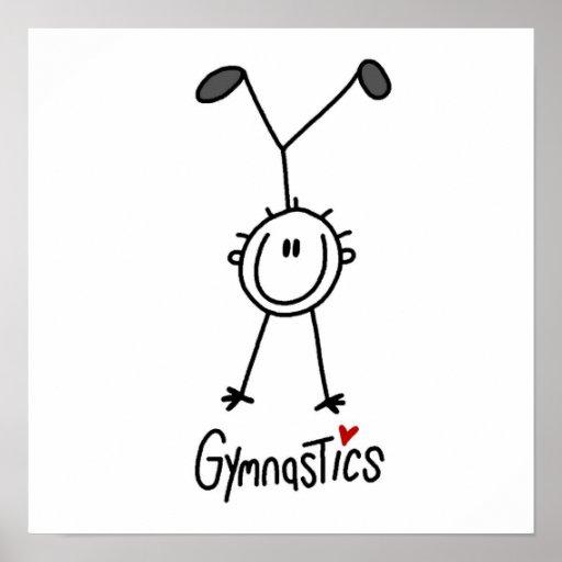 Simple Stick Figure Gymnast Print