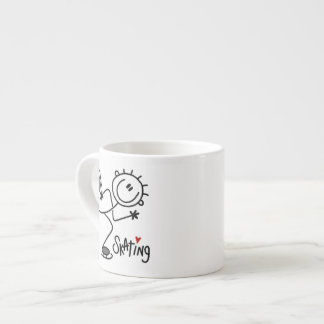 Simple Stick Figure Ice Skating T-shirts and Gifts Espresso Cup