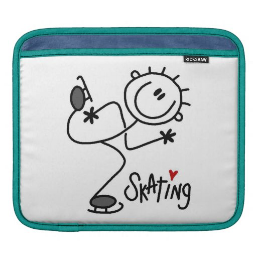 Simple Stick Figure Ice Skating T-shirts and Gifts Sleeve For iPads