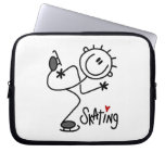 Simple Stick Figure Ice Skating T-shirts and Gifts Laptop Computer Sleeves