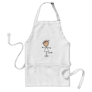 Simple Stick Figure Nurse T-shirts and Gifts Adult Apron