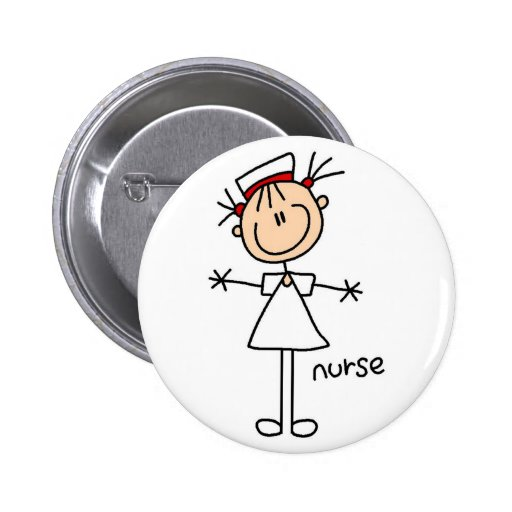 Simple Stick Figure Nurse T-shirts and Gifts Buttons