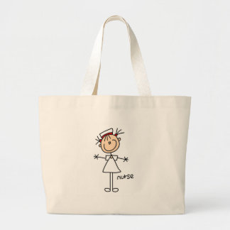Simple Stick Figure Nurse T-shirts and Gifts Large Tote Bag