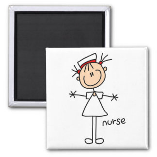 Simple Stick Figure Nurse T-shirts and Gifts Magnets