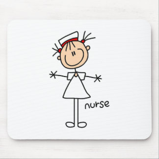 Simple Stick Figure Nurse T-shirts and Gifts Mouse Pad
