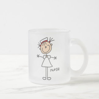 Simple Stick Figure Nurse Tshirts and Gifts 10 Oz Frosted Glass Coffee Mug
