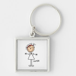 Simple Stick Figure Nurse Tshirts and Gifts Keychains