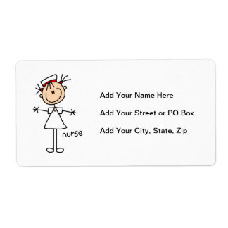 Simple Stick Figure Nurse Tshirts and Gifts Label