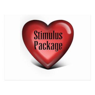Simple Stimulus Package Postcard