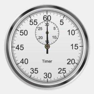 Simple Stopwatch Round Sticker