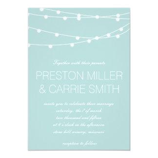 Simple String of Lights Wedding Invites | Wedding