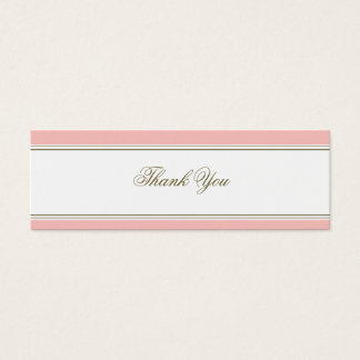 Simple Stripe Blush Pink Favor Gift Tag