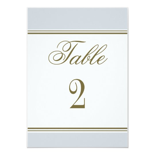 Simple Stripe French Blue Reception Table Number