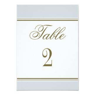 Simple Stripe French Blue Reception Table Number Custom Invite