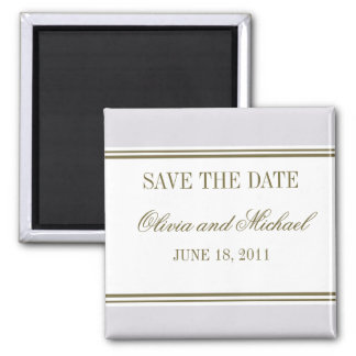 Simple Stripe Mauve Save the Date Magnet
