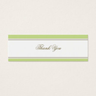 Simple Stripe Spring Green Favor Gift Tag