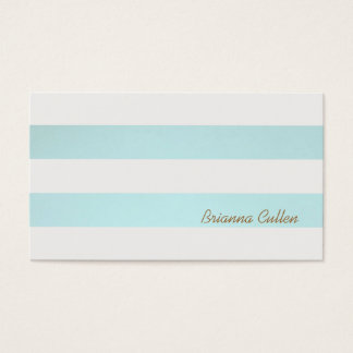 Simple Striped Light Turquoise Blue Groupon Business Card