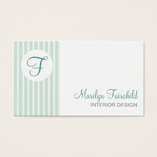 Simple Stripes Monogram Business Card Template
