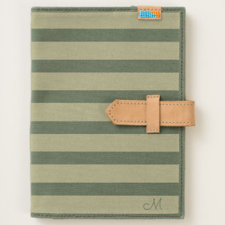 Simple Stripes Pattern With Monogram Journal