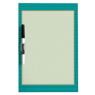 Simple Stripes Textured Look Green Dry-Erase Board