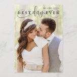 """Simple Stylish Best Day Ever Photo Thank You<br><div class=""""desc"""">Simple Stylish Best Day Ever Wedding Photo Thank You Card</div>"""
