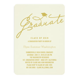 Simple & Stylish Graduate Graduation Party Invite