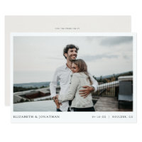 Simple Stylish Modern Photo Wedding Save the Date Invitation
