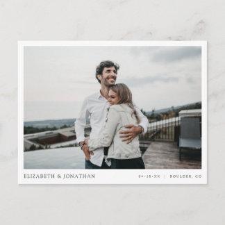 Simple Stylish Modern Photo Wedding Save the Date Invitation Postcard