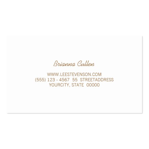 Simple Stylish Striped Silver Metallic Elegant Business Card Template (back side)