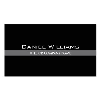 Simple stylish with gray line personal profile or Double-Sided standard business cards (Pack of 100)
