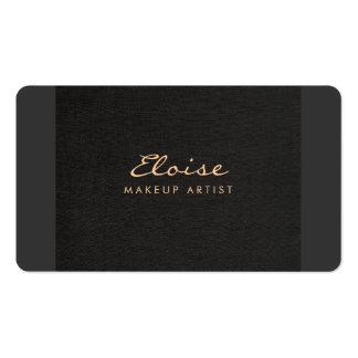 Simple Stylist & Makeup Artist Minimalistic Black Business Card