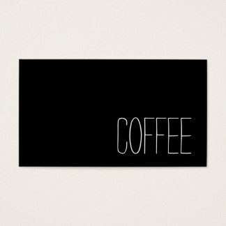 Simple Stymie Word Dark Loyalty Coffee Punch-Card Business Card
