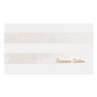 Simple Subtle Striped Elegant White Foil Look Business Card