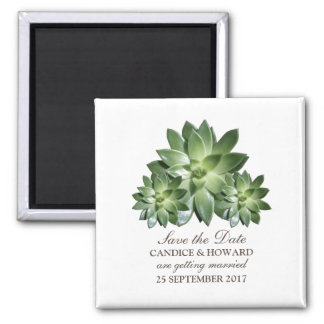 Simple Succulent Save the Date Magnet