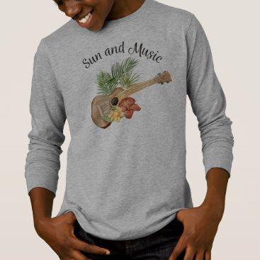 Beach Themed Simple Sun and Music Beach Summer | Sleeve Shirt
