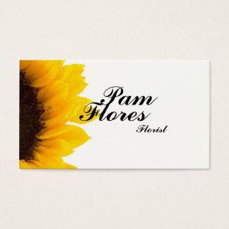 Simple Sunflower Business Cards