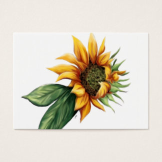 Simple Sunflower Business Cards