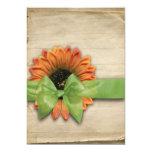 Simple Sunflower Natural Autumn Wedding Custom Announcements