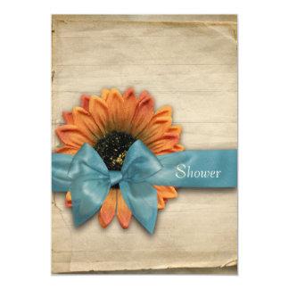 Simple Sunflower Natural Organic Bridal Shower Card