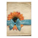 "Simple Sunflower Natural Organic Bridal Shower 5"" X 7"" Invitation Card"