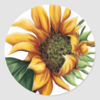 Simple Sunflower Stickers