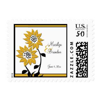 Simple Sunflowers Wedding Postage