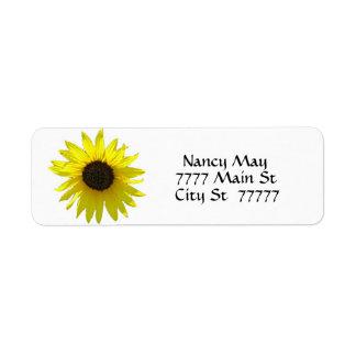 Simple Sunny Sunflower Return Address Label