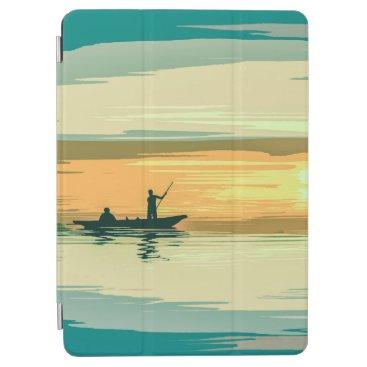 Simple Sunrise Fishing Artwork   iPad Air Case