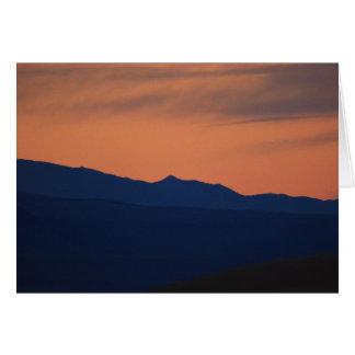 Simple Sunset,  Blank Inside Card