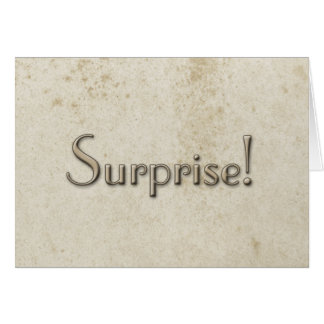 Simple Surprise Vintage Stained Paper Card