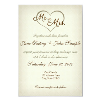 Simple Sweet Beige Personalized Invites