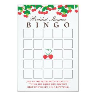 Simple Sweet Cherries Bridal Shower Bingo Cards