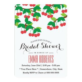 Simple Sweet Cherries Bridal Shower Invitations