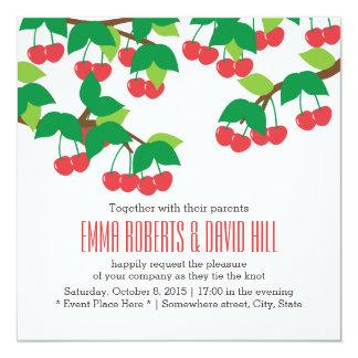 Simple Sweet Cherries Wedding Invitations